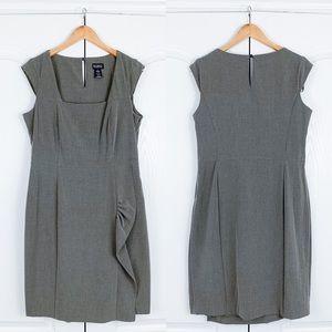 Soho Apparel Gray Ruffle Work Dress